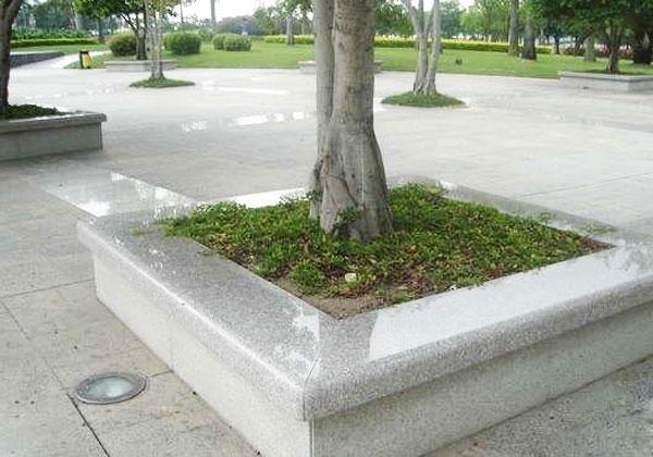 芝麻白石桌椅案例